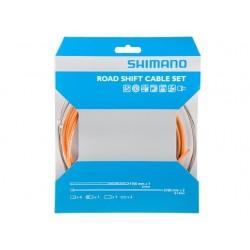 Kit Cables y Fundas Shimano Cambio Naranja