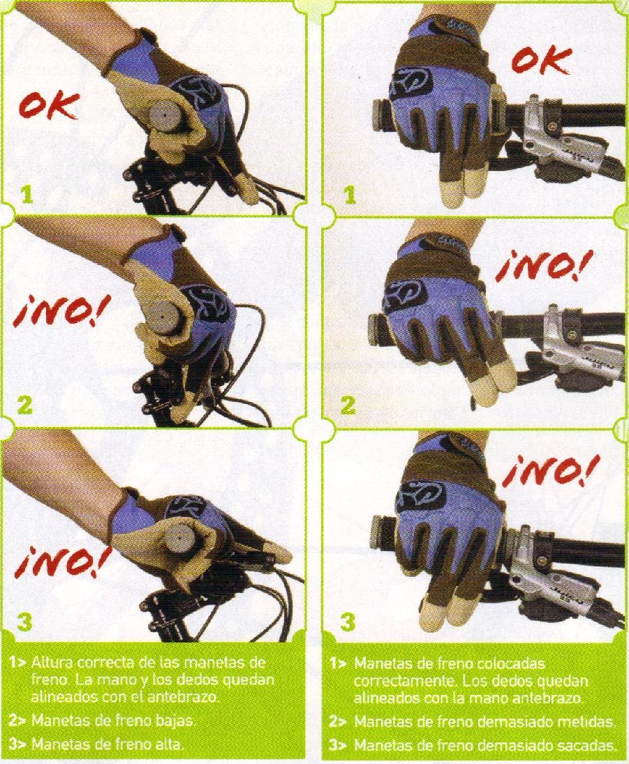 posicion correcta manos en bicicleta