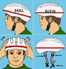 posicion correcta casco ciclismo