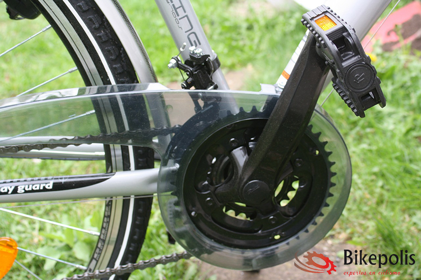 Pedal de bicicleta tipo plataforma.