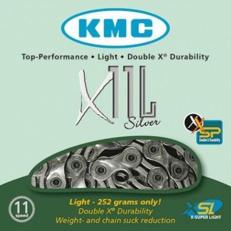 Cadena KMC X11L Plata