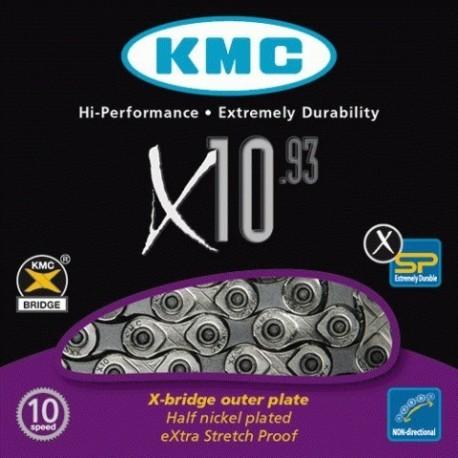 Cadena KMC X10-93 Niquel 10V