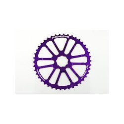 Piñon Alu 42 Fouriers Shimano Violeta