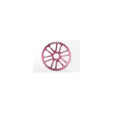 Piñon Alu 42 Fouriers Shimano Rosa