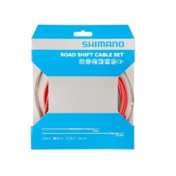 Kit Cables y Fundas Shimano Freno Sil-Tec Rojo