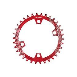 Plato Fouriers 96BCD Asimétrico XTR M9000 Rojo