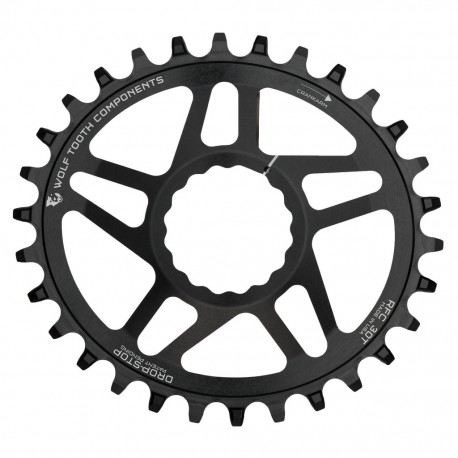 Plato Wolf Tooth Oval Race Face Cinch Negro