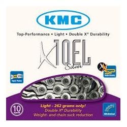 Cadena KMC X10EL Silver 10V
