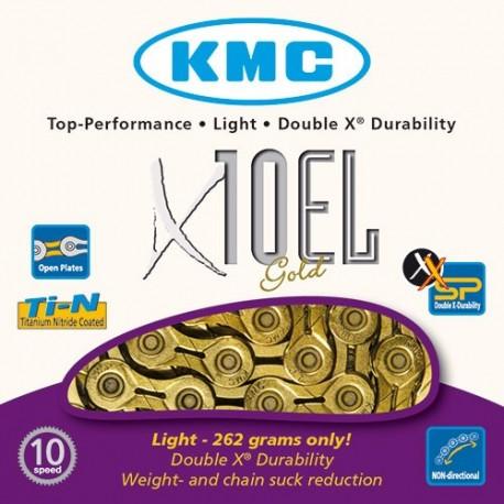 Cadena KMC X10EL Oro 10V
