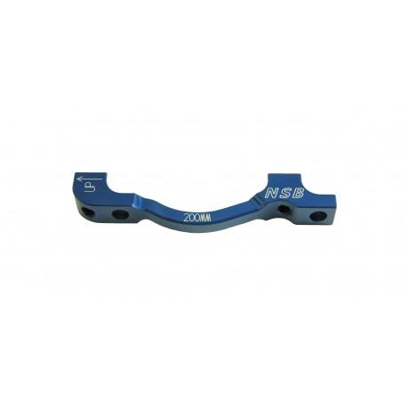 Adaptador de freno Delantero NSB PM-PM Azul 203mm