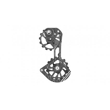 Portapoleas Fouriers CNC Full Ceramic Sram E-Tap 15-15 Negro