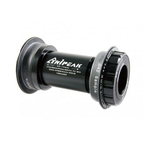 Pedalier Tripeak PF30/BB30/PF30A/BB30A Shimano Ceramic Negro