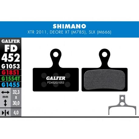Pastillas Freno Galfer Standard Shimano XTR, XT (2014-), Deore XT BR-M875, SLX M666