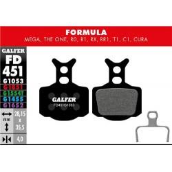 Pastillas Freno Galfer Standard Formula Mega, The One, R0, R1, RR1, T1, C1, Cura