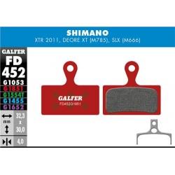 Pastillas Freno Galfer Advenced Shimano XTR, XT (2014-), Deore XT BR-M875, SLX M666