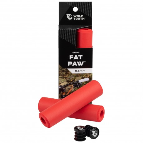 Puños Wolf Tooth Fat Paw Silicona Rojo