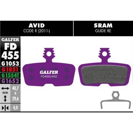 Pastillas Freno Galfer E-Bike Avid/Sram Code R 2011 / Guide RE