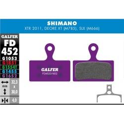 Pastillas Freno Galfer E-Bike Shimano XTR, XT (2014-), Deore XT BR-M875, SLX M666