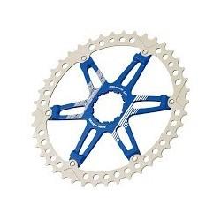 Piñon Cr-Mo 42 Fouriers Shimano Azul