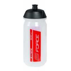 Bidon Force Stripe Transparente-Rojo 500ml