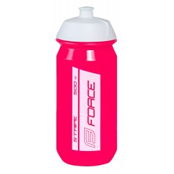 Bidon Force Stripe Rosa-Blanco 500ml