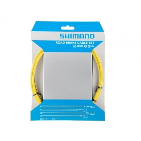 Kit Cables y Fundas Shimano Freno Amarillo