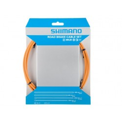 Kit Cables y Fundas Shimano Freno Naranja