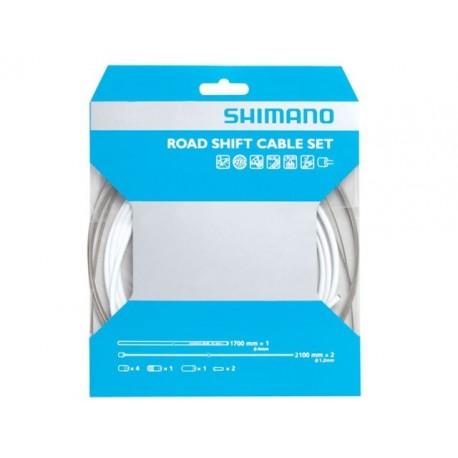 Kit Cables y Fundas Shimano Cambio Sil-Tec Blanco