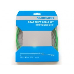 Kit Cables y Fundas Shimano Cambio Verde