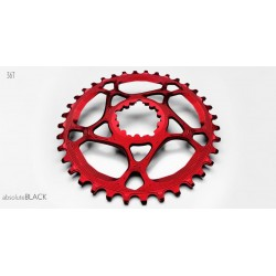 Plato Absolute Black Direct mount GXP Rojo